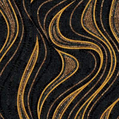 Design of mural of mosaics