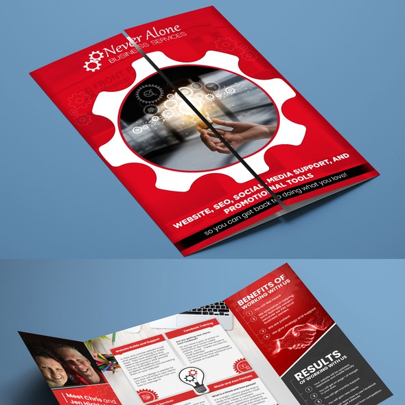 Print design with the title 'Brochure Design'