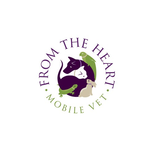 Reptile design with the title 'Logo for high-end veterinarian service'