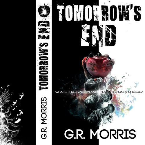 Angel wing design with the title 'Tomorrow's END - G.R. Morris'