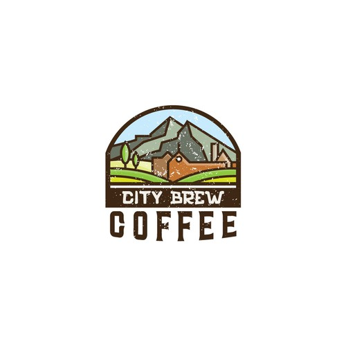 Rural design with the title 'Coffee shop logo'