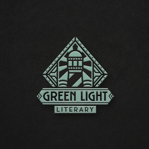 Gatsby logo with the title 'Art Deco Logo For Literary Agency'