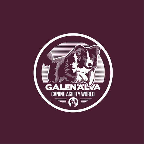 Training design with the title 'Dog training badge'
