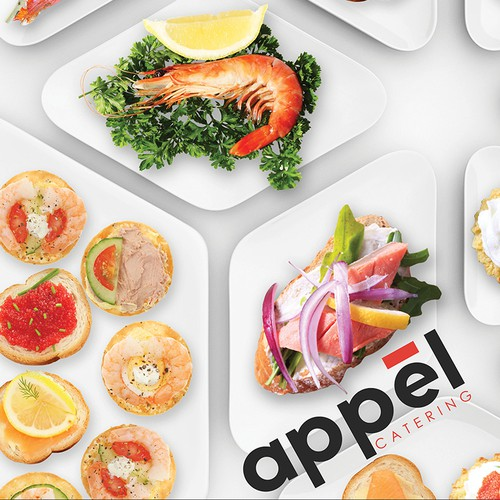 Catering brand with the title 'Appel logo'