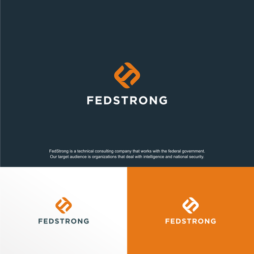Sleek design with the title 'FEDSTRONG - LOGO'