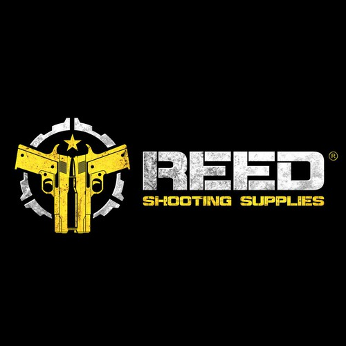 Bullet design with the title 'Reed - Shooting Supplies'