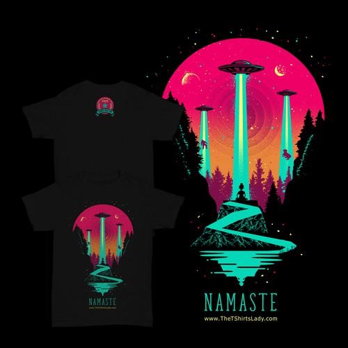 Alien design with the title 'Namaste Design'