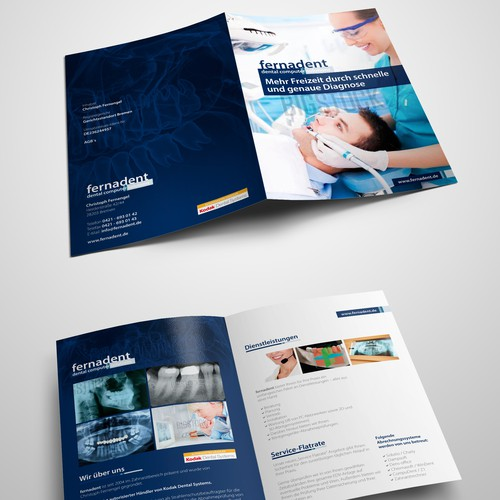 Surgical design with the title 'Dental Brochure design'
