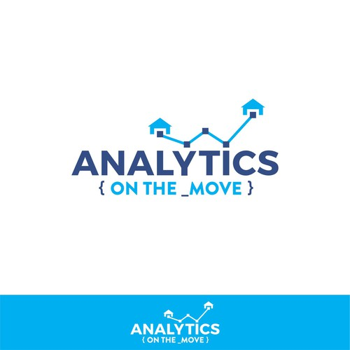 Moving logo with the title 'Logo for Analytics company'