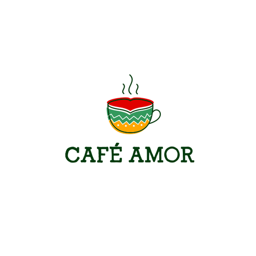 Love logo with the title 'Café Amor'