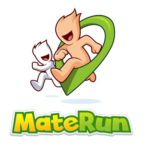 Running logo with the title 'MateRun'