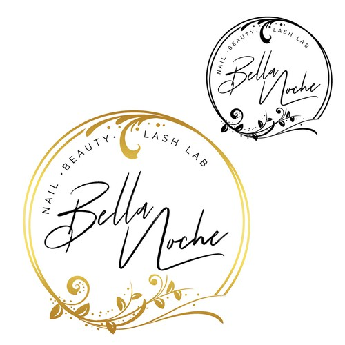 Beauty logo with the title 'Bella Noche - Nail*Beauty*Lash Lab'