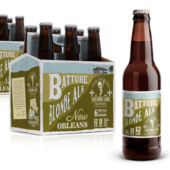 Carrier design with the title 'Beer bottle label. Carriers'