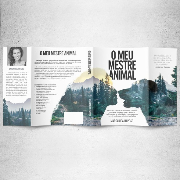 Harmony design with the title 'Book cover for O Meu Mestre Animal'