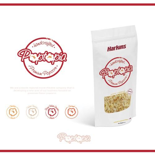 Popcorn logo with the title 'Poptopia '