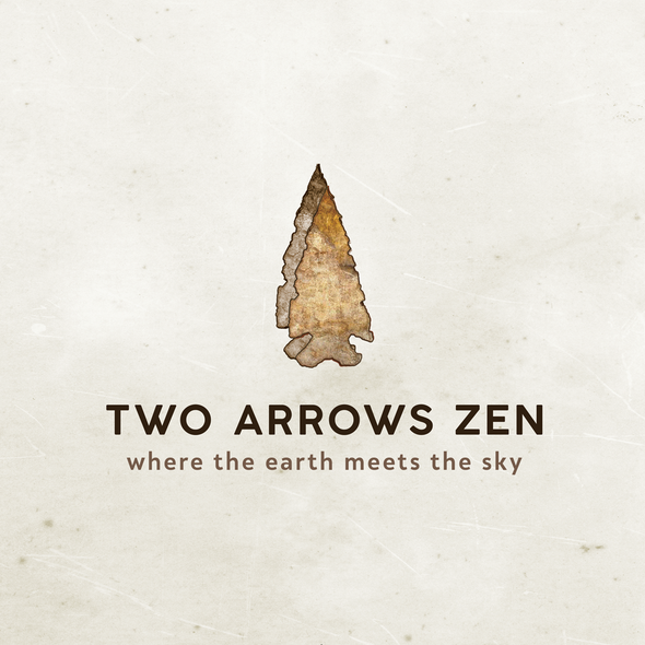 Draft design with the title 'meeting two arrows zen'