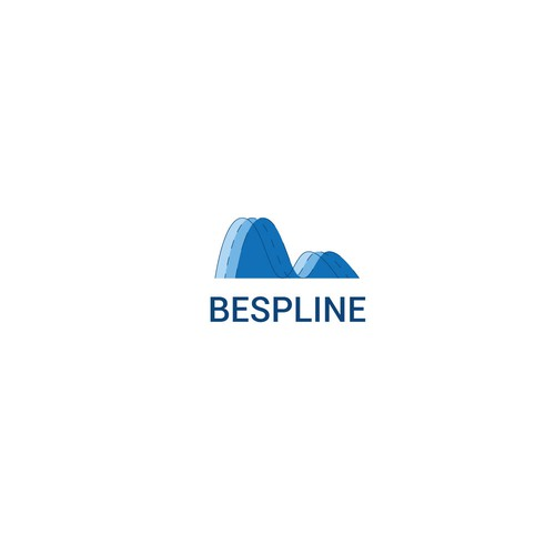 Curve logo with the title 'Bespline shape material'