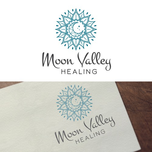 Ayurveda logo with the title 'Logo for a spiritual healer'