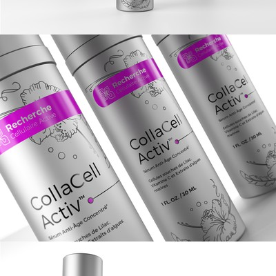 Anti-aging serum packaging design