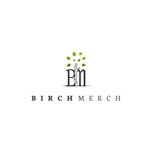 Birch design with the title 'Birch Merch'