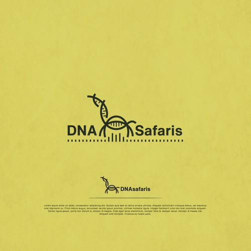 Safari logo with the title 'Logo for DNA Safaris'