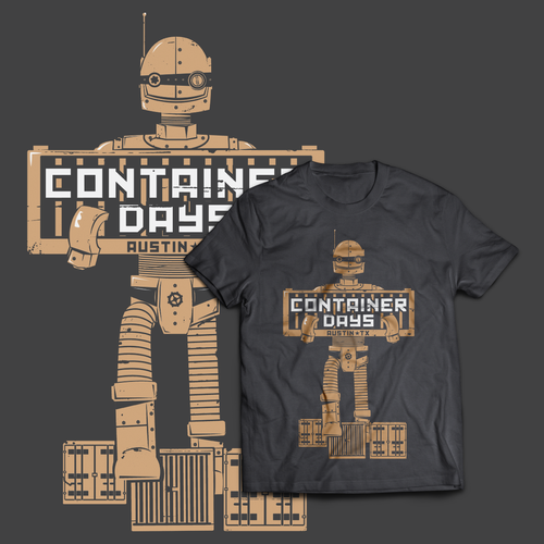 Fun t-shirt with the title 'Container Days T-shirt design'