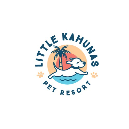 Resort logo with the title 'Logo for dog daycare and boarding resort'