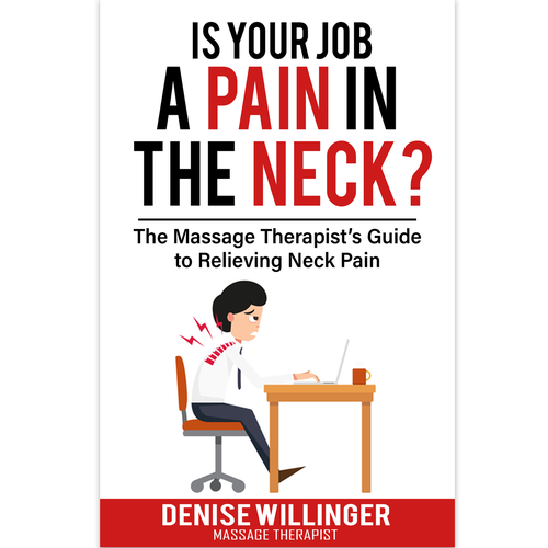 Pain design with the title 'IS YOUR JOB A PAIN IN THE NECK?'