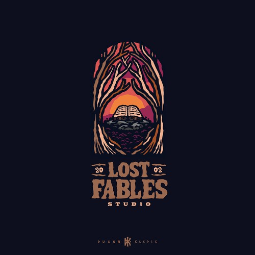 Logo with the title 'Lost Fables Studio'