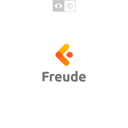 Happiness logo with the title 'Freude'