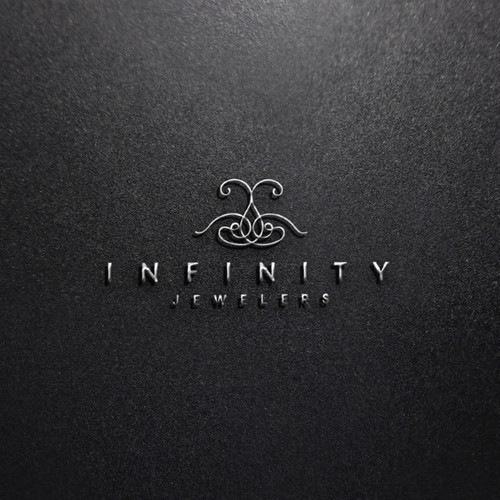 Brilliant logo with the title 'Classy logo for INFINITY JEWELERS'