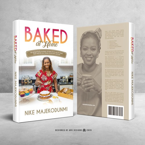 Recipe book cover with the title 'Book cover design'