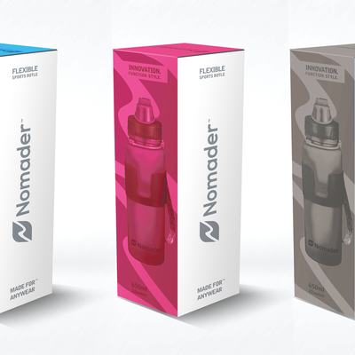 Clean and modern looking package design for Nomader