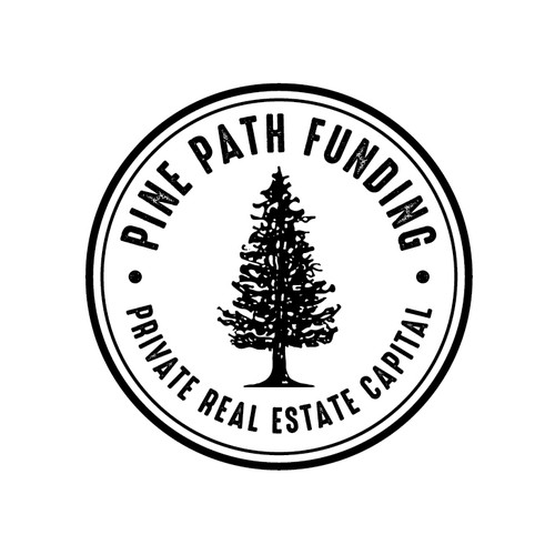 Vintage circle logo with the title 'Pine Path Funding'