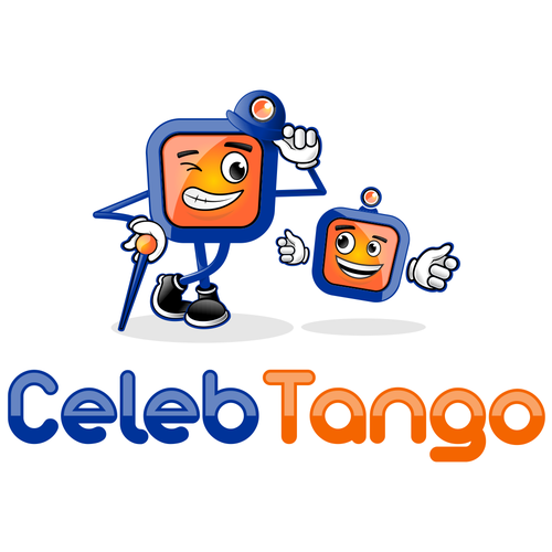 Stand-up design with the title 'Help CelebTango with a new logo'