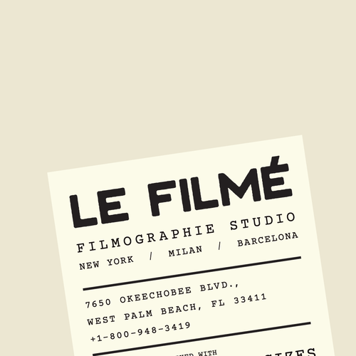 Typewriter logo with the title 'A Wordmark Concept for a Cinema Studio'