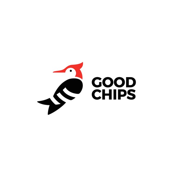 Woodpecker logo with the title 'Good Chips'