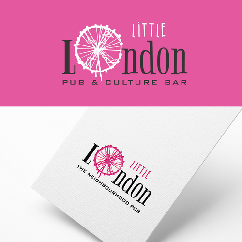 Pub logo with the title 'little london'