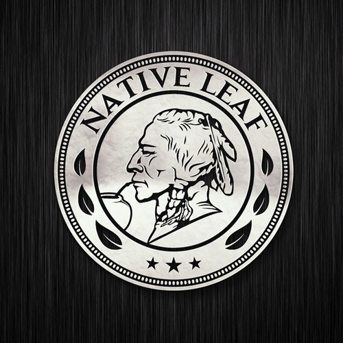 Coin logo with the title 'Indian American Native'