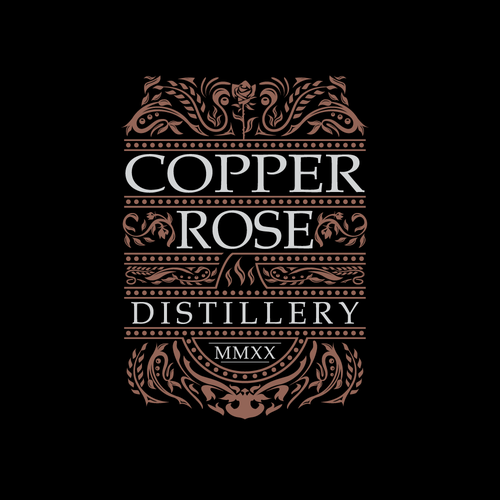 Copper logo with the title 'Copper Rose Distillery logo'