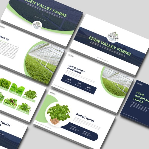 Agricultural design with the title 'PowerPoint template - Contest Winner'