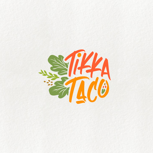 Restaurant logo with the title 'Logo for tikka taco'
