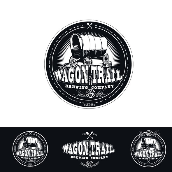 Shovel logo with the title 'Wagon Trail BrewingCompany'