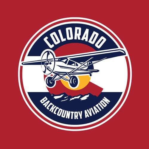 Colorado logo with the title 'Bold Circle Colorado based Aviation logo'