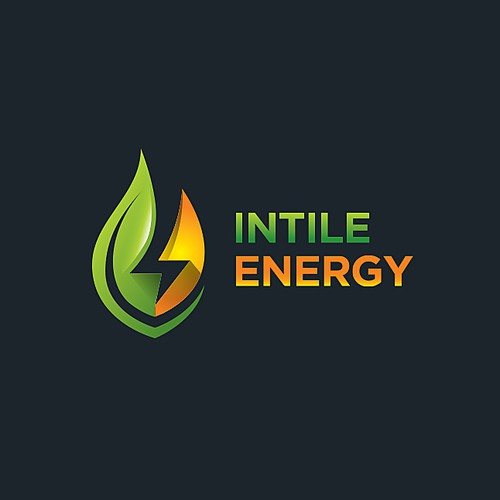 Green leaf logo with the title 'Intile Energy'