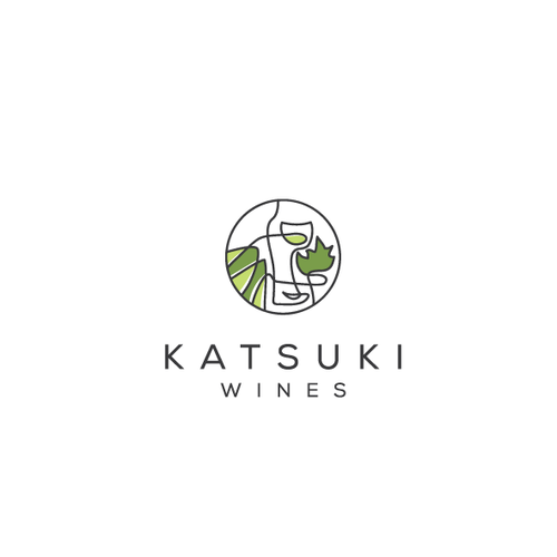 Nature brand with the title 'katsuki wines'