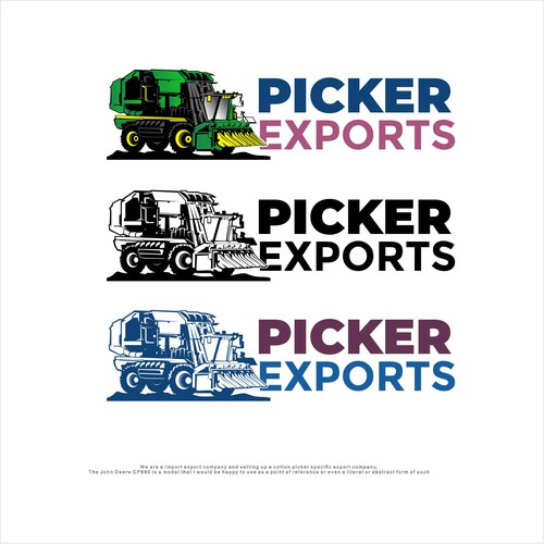 Import design with the title 'Logo for import Export company'