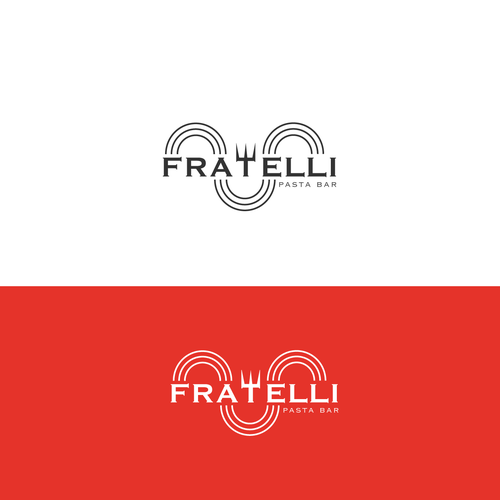 Brothers logo with the title 'Logo disegnato per Fratelli Pasta Bar'