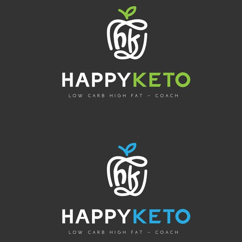 Keto logo with the title 'Happy keto logo'