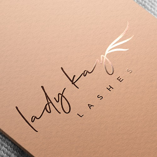 Eyelash logo with the title 'Simple and elegant logo design for eyelash extension services'